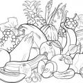 Figuras Para Colorear De Frutas Y Verduras
