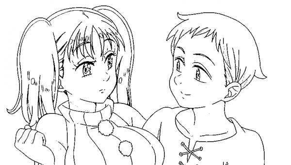 Diane (nanatsu No Taizai) Para Colorear E Imprimir