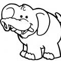 Elefante Caricatura Para Colorear