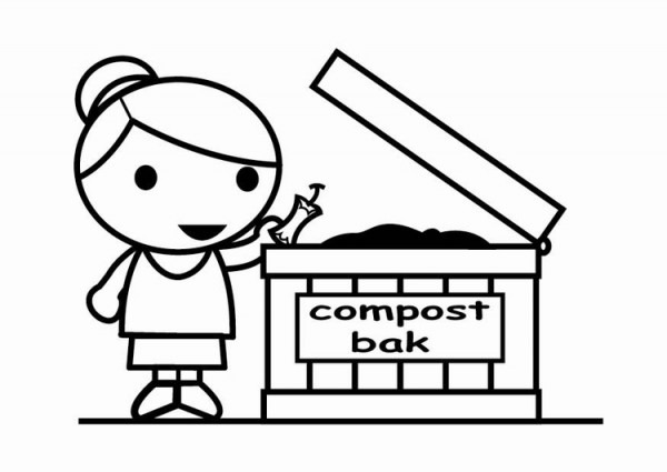 Dibujo Para Colorear Convertir En Compost
