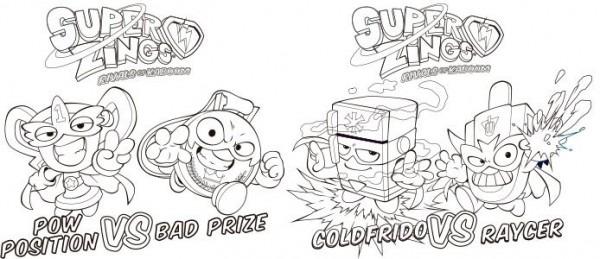 dibujos para colorear superzings