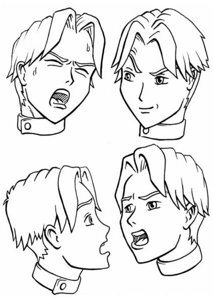 Dibujo Para Colorear Expresiones