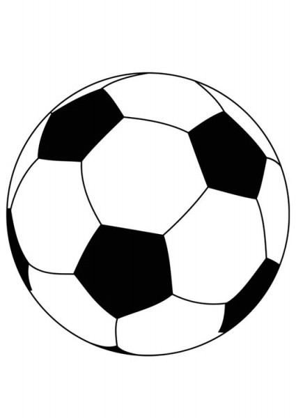 Dibujo Para Colorear Pelota De Fútbol
