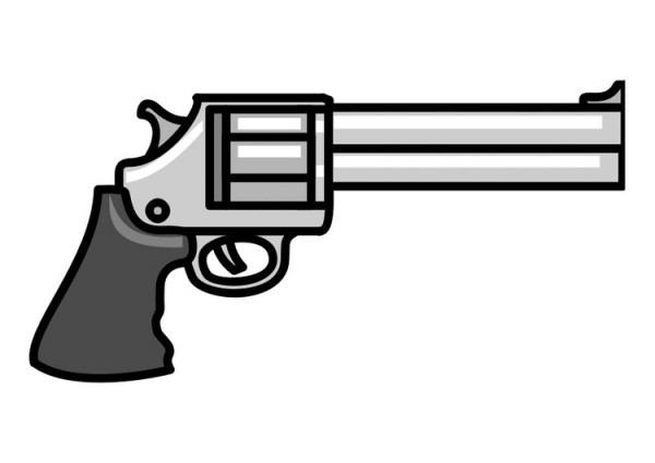 Dibujo Para Colorear Pistola