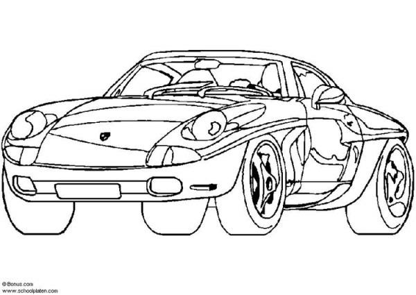 Dibujo Para Colorear Porsche Showcar