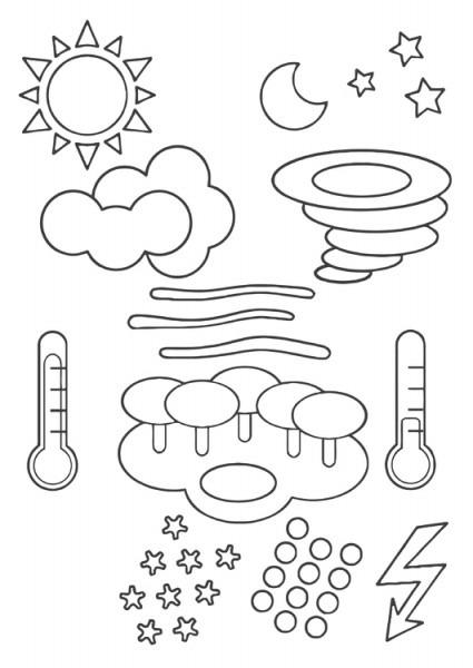 Dibujo Para Colorear Símbolos Del Tiempo
