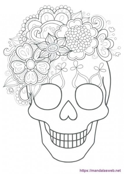▷ 32 Dibujos Y Mandalas De Calaveras Para Colorear 🥇