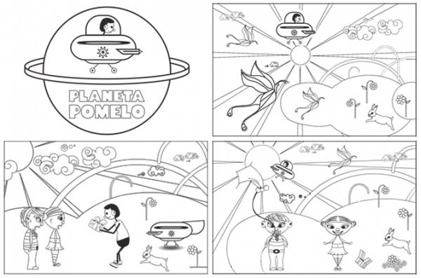Dibujos Para Colorear Planeta Pomelo Duna Y Rosi