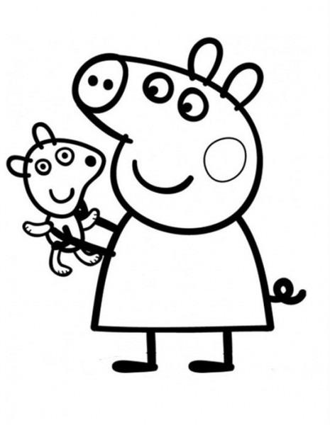 Peppa Pig Para Colorear, Pintar E Imprimir