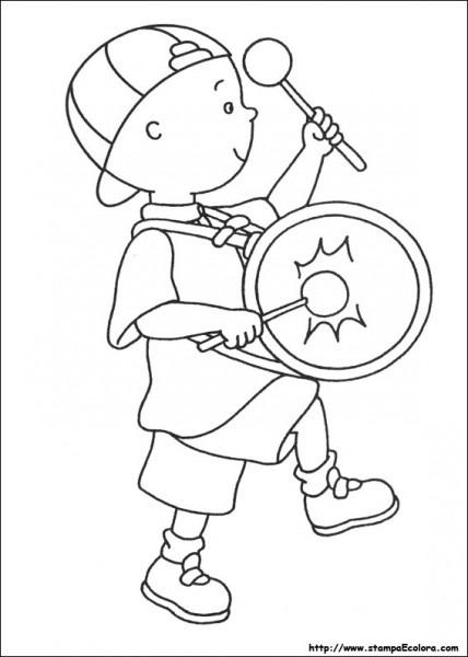 Caillou  33 (dibujos Animados) – Páginas Para Colorear