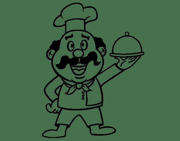 Cocinero   Cocinera  49 (ocupaciones) – Páginas Para Colorear