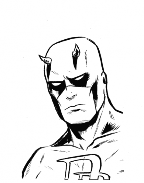Daredevil  12 (superhéroes) – Páginas Para Colorear