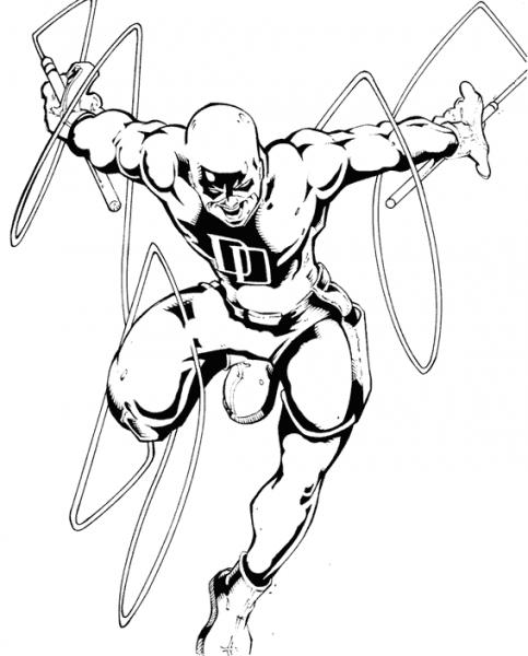 Daredevil  4 (superhéroes) – Páginas Para Colorear