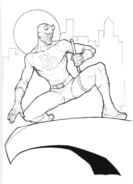 Daredevil  8 (superhéroes) – Páginas Para Colorear