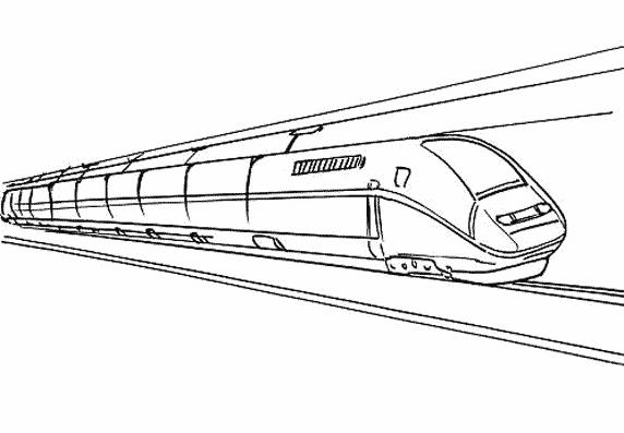 Train   Locomotive  94 (transporte) – Páginas Para Colorear