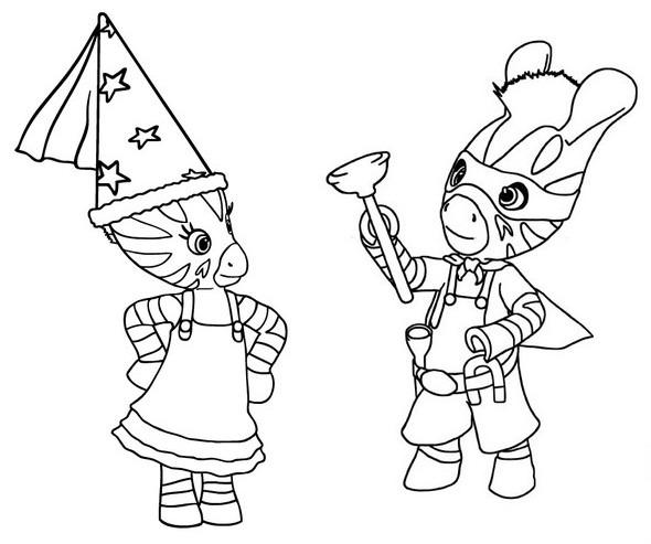 Zou  12 (dibujos Animados) – Páginas Para Colorear