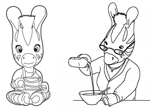Zou  19 (dibujos Animados) – Páginas Para Colorear