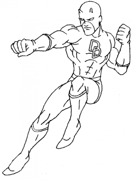 How To Draw Daredevil From Marvel Comics In Easy Steps Drawing