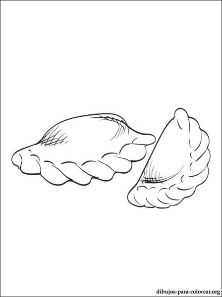 Empanadas Chilenas Imagen Para Colorear