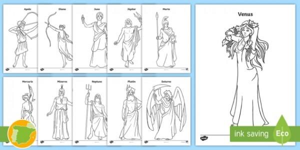 Hojas De Colorear  Dioses Romanos