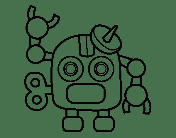 Robot Para Colorear