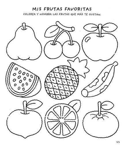 Actividades Con Frutas Y Verduras Para Preescolar