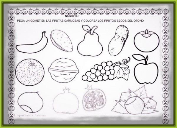Conjuntos De Frutas Para Colorear