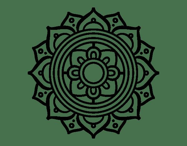 Dibujo De Un Mandala Mosaico Griego Para Pintar, Colorear O