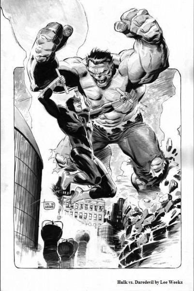 The Hulk Vs Daredevil By Lee Weeks