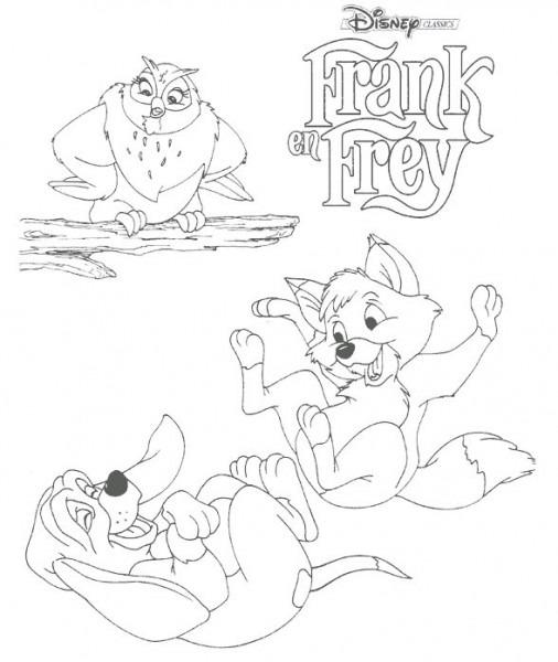 Tod Y Toby Dibujos Para Colorear