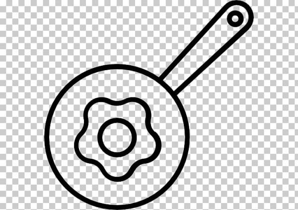 Huevo Frito Tocino Libro Para Colorear Dibujo, Tocino Png Clipart