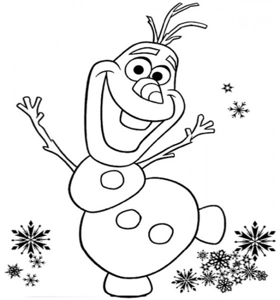 Dibujo Para Colorear Frozen 2   Olaf 15