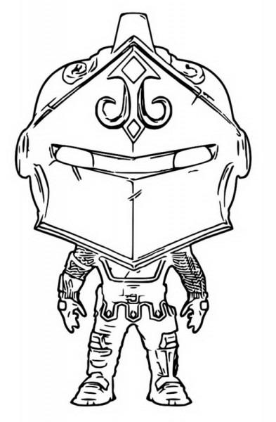 Dibujo Para Colorear Funko Pop Fortnite   Black Knight 6