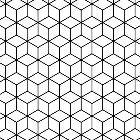 Dibujo De Teselado Geométrico Con Rombos Para Colorear