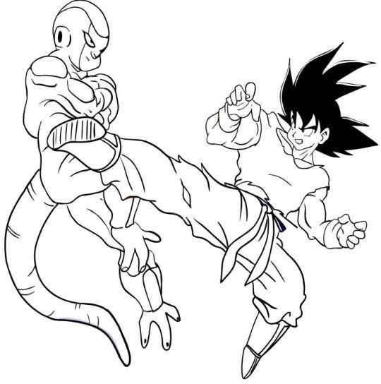 Dibujos Para Pintar  Dibujos Para Pintar Goku