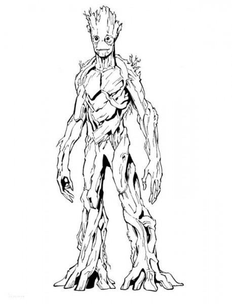 Groot Guardianes De La Galaxia Dibujos Para Colorear