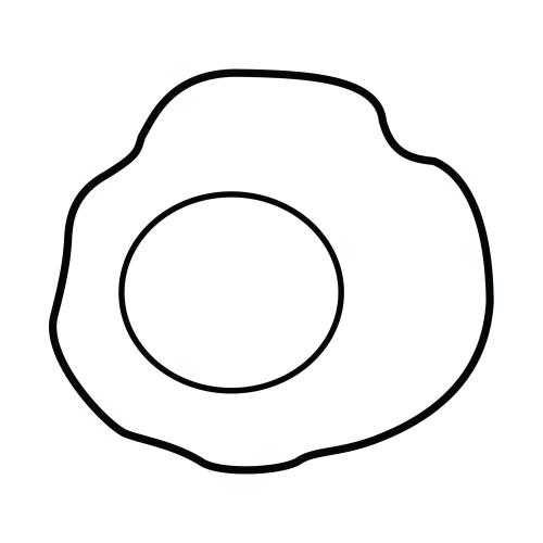 Dibujos Para Imprimir De Huevos Fritos