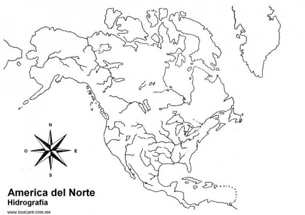 Mapa Interactivo  Hidrografia America Del Norte (geografía
