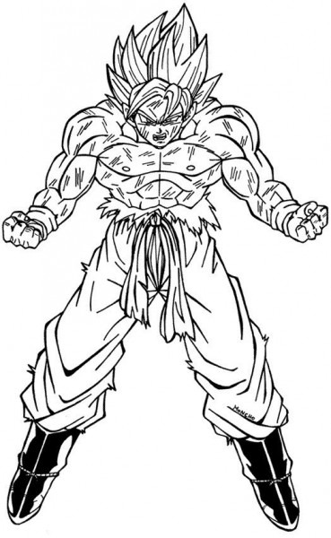 Imagen De Goku Para Colorear E Imprimir