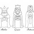Imagenes De Reyes Magos Melchor Gaspar Y Baltasar Para Colorear