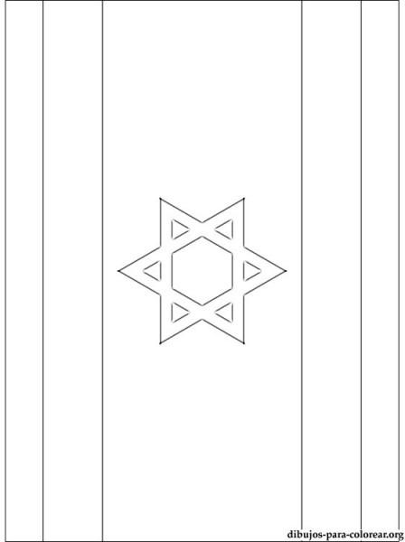 Dibujo De Bandera De Israel Para Colorear