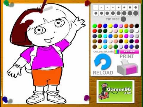Juegos De Colorear A Dora Online Gratis