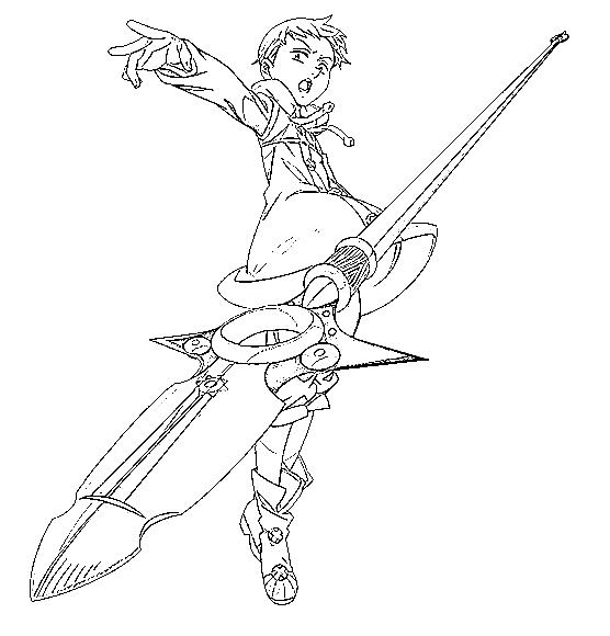 King (nanatsu No Taizai) Para Colorear E Imprimir