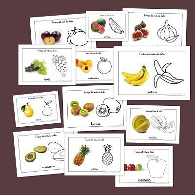 Aprender En La Nube  Las Frutas Del Verano Para Colorear