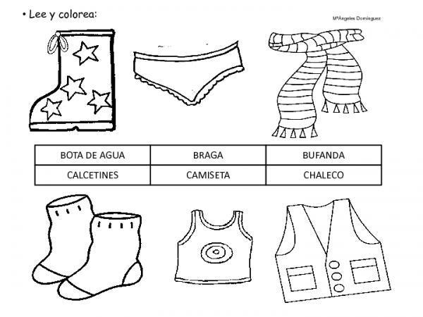 Figuras De Prendas De Vestir En Inglés