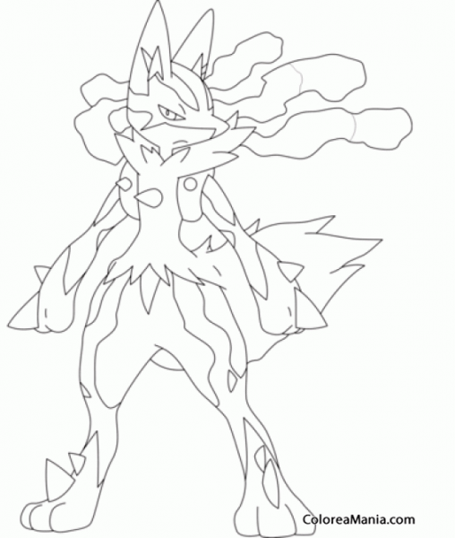 Lucario Coloring Page At Getdrawings Com