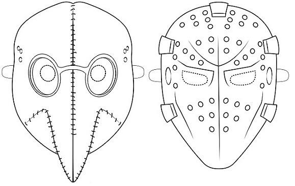 13 Máscaras De Halloween Para Colorear