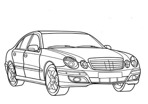 Dibujo De Mercedes Benz Clase E Para Colorear