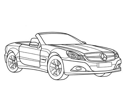 Dibujo De Mercedes Benz Clase Sl Para Colorear