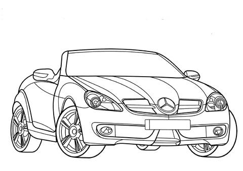Dibujo De Mercedes Benz Clase Slk Para Colorear